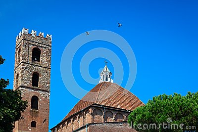 Church dome and bell tower