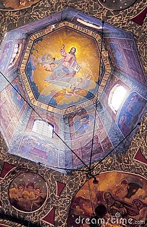 Church dome interior