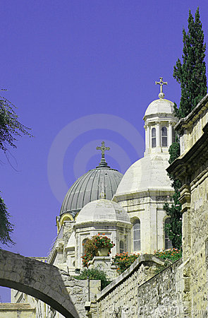 Free Church, Dome Roof, Jerusalem    Stock Photography - 537282