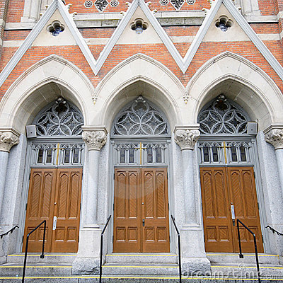 Free Church Doors Entrance Royalty Free Stock Images - 12483079