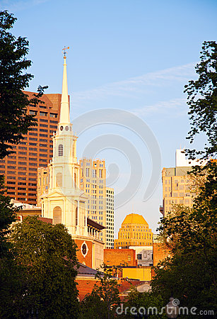 Church in downtown Boston