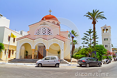 Church of Elounda town on Crete