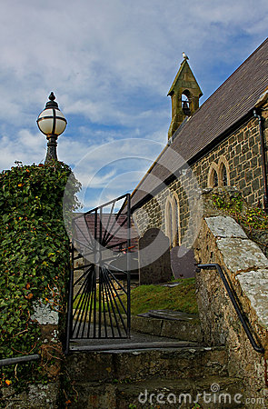 Free Church Entrance, Rhoscolyn, Anglesey, Wales Stock Images - 62007114