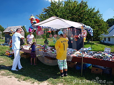 Church fair, Lublin, Poland Editorial Stock Image