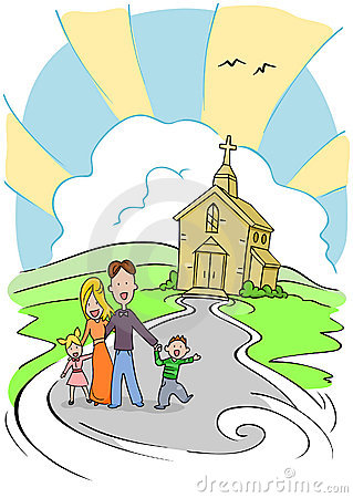 Free Church Family Stock Photography - 8807042