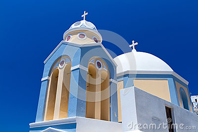 Church of Fira town at Santorini island