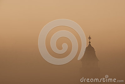 Church in a fog