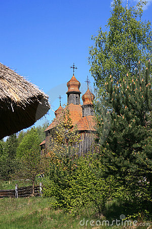 Free Church From Pirogovo Open Air Museum Royalty Free Stock Photo - 17918415