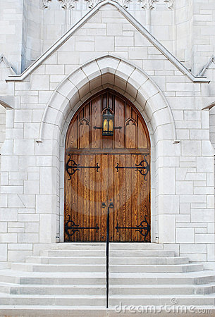 Free Church Front Entrance Stock Photo - 3694410