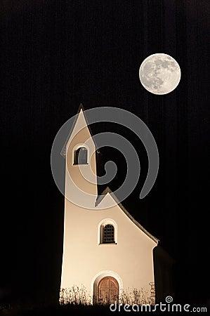 Church at The Gardena Pass, Dolomites