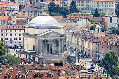 Church Gran Madre di Dio in Turin, Italy Editorial Stock Image