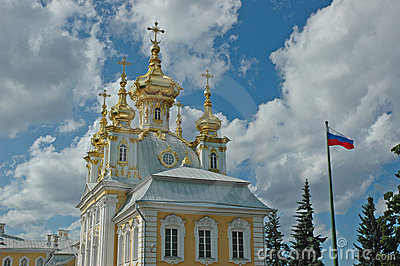 Church of Grand Palace in Petrodvorets