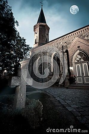 Church with graveyard