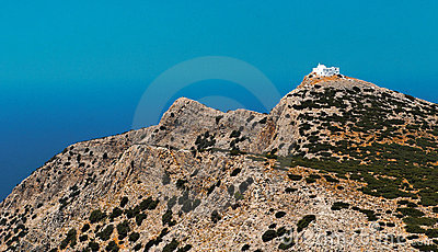 Church on Greek mountain