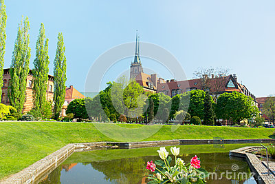 The Church of the Holy Cross , Wroclaw, Poland