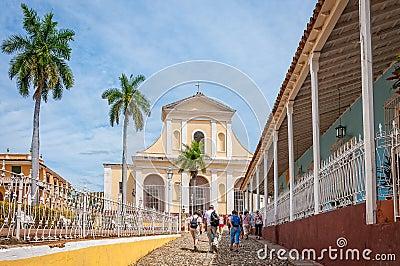 Church of Holy Trinity in Trinidad, Cuba Editorial Image