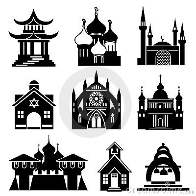 Free Church Icons Stock Images - 15846034