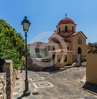 Free Church In Kalamata Old Town, Peloponnes, Greece Royalty Free Stock Photography - 65883997