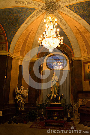 the church the holy virgin mary and the angel decorative lighting