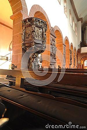 Church interior architecture