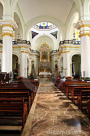 Church interior in Puerto Vallarta, Mexico