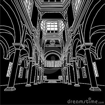 Church Interior Vector 01