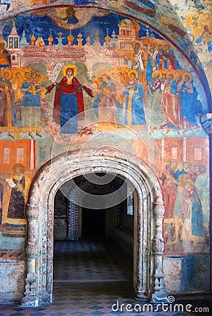 Free Church Interior With Original 17th Century Frescos Royalty Free Stock Image - 31629646