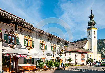 Church in Inzell Editorial Photo
