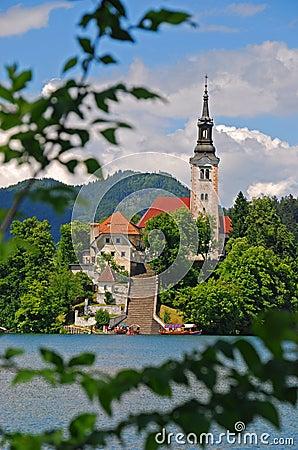 Church on an Island at Lake Bled