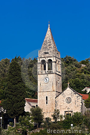 Church on island Sipan, Croatia