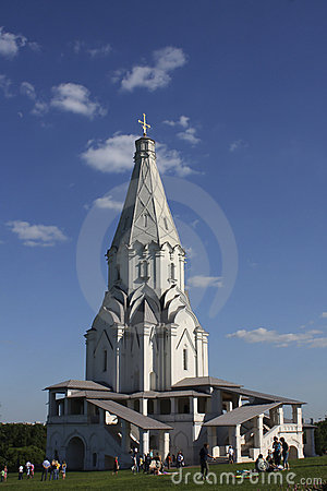 Church in Kolomenskoye, Moscow Editorial Stock Image