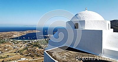 Church on Kythnos island