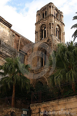 Church:  LA MARTORANA, Bell Tower. Palermo, Sicily