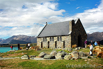 Church in Lake Tekapo, New Zealand Editorial Stock Image