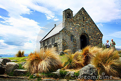 Church in Lake Tekapo, New Zealand Editorial Photo