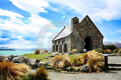 Church in Lake Tekapo, New Zealand