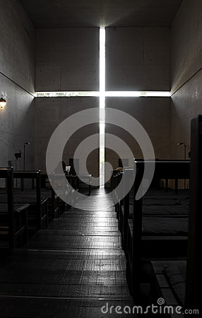 Church of the light, in the city of Ibaraki, Osaka