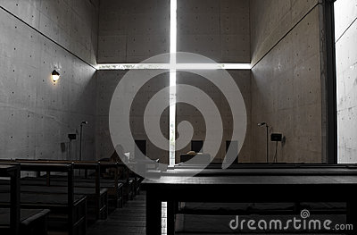 Church with Light, osaka, japan Editorial Photography