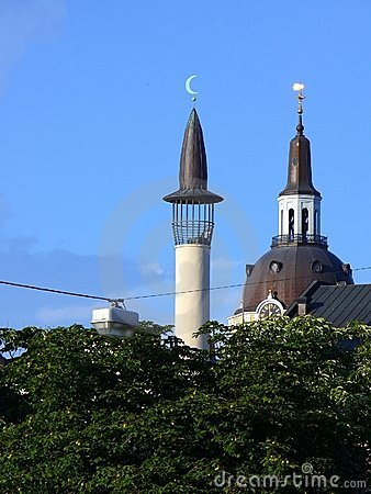 Church and mosque