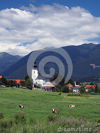 Church and mountains in Bobrovec