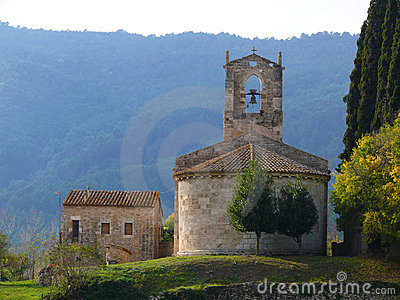 Church near Banyoles lake