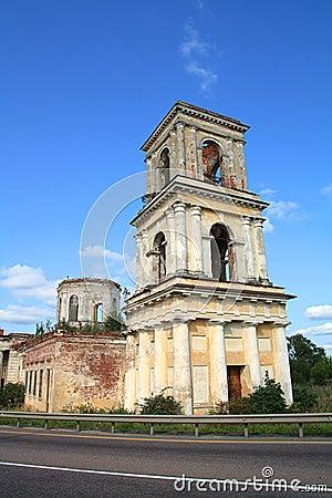 Church near roads