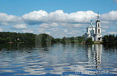 Church near the Volga River