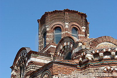 The church in Nessebar. Bulgaria. Sunny Beach.