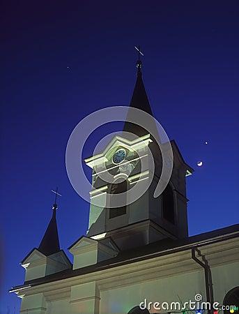 Church at night.