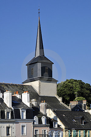 Free Church Of Le Palais At Belle Ile In France Royalty Free Stock Photo - 15497825