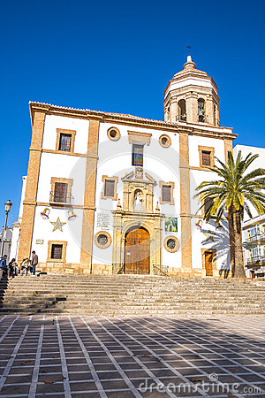 Free Church Of Ronda, Malaga, Spain Royalty Free Stock Images - 82307819