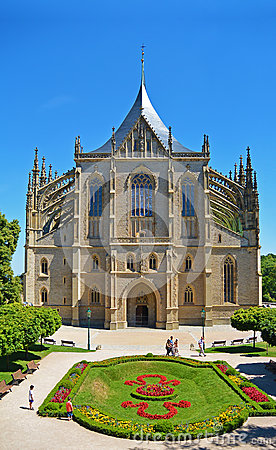 Free Church Of Saint Barbara, Kutna Hora Czech Republic Stock Photography - 87979422