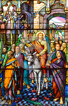 Free Church Of Saint-Leon-de-Westmount Stained Glass Window Stock Photos - 78343873