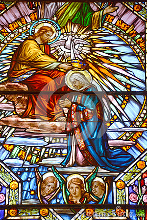 Free Church Of Saint-Leon-de-Westmount Stained Glass Window Royalty Free Stock Photography - 78345597